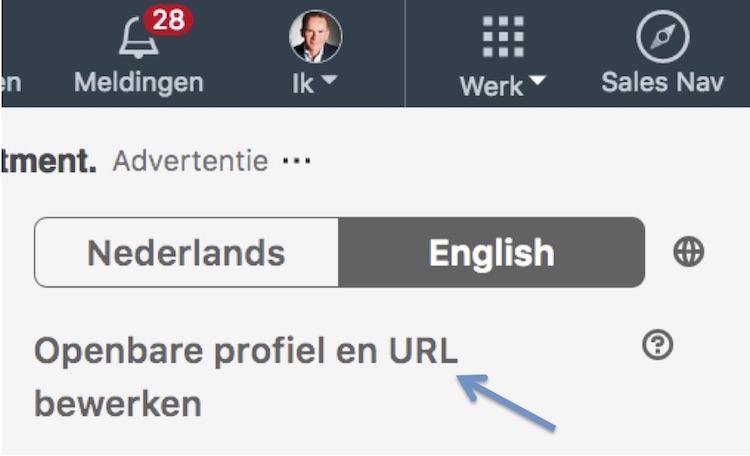 LinkedIn profiel URL